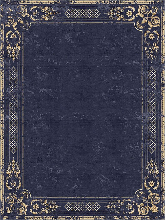 Ornate Stucco Deep Blue